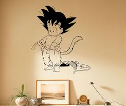 aliexpress com buy d242 japanese manga anime wall decal son goku easily adhesive straight to the wall door mirror or any smooth surface you want made with high quality removable and waterproof pvc
