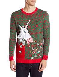 ugly christmas sweaters that light up and sing blizzard bay men s vomiting unicorn light up ugly christmas sweater