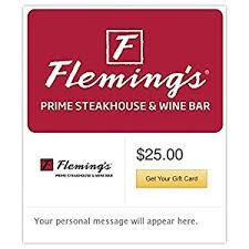 fleming s gift card fleming s prime steakhouse wine bar gift cards