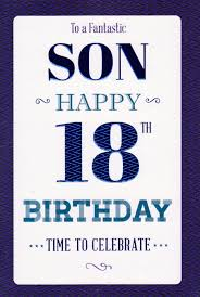 to a fantastic son happy 18th birthday card cards crazy