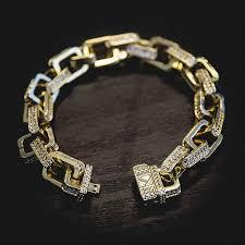 link bracelet images Iced hermes link bracelet the gld shop jpg