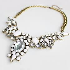 bib necklace flower images Anastasia ivory floral flower crystal bib statement necklace jpg