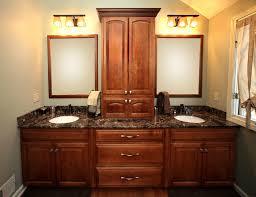 Linen Cabinets His U0026 Her Vanity Linen Cabinets Njw Construction
