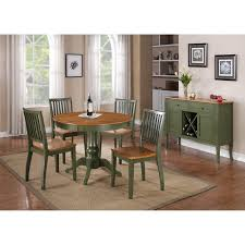 Two Tone Painting Ideas Steve Silver Candice Two Tone Round Pedestal Dining Table Hayneedle