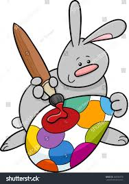 big easter bunny illustration easter bunny painting stock illustration