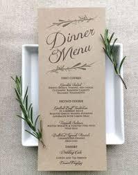 Diy Wedding Menu Cards Rustic Wedding Menu Simple Rustic Floral Wedding Reception