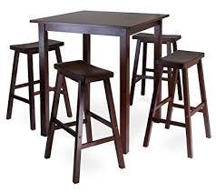high pub table set winsome wood parkland 5 piece square high pub table set in antique