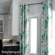 How To Hang Draperies How To Make Unlined Diy Drapes With An Easy Grommet Top The Diy