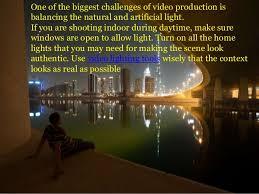 Lighting Tips 4 Top Video Lighting Tips