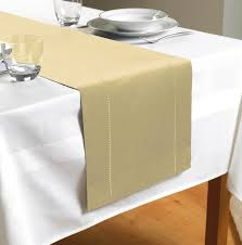 hem stitch table runner cream kitchen homewares u0026 table linen