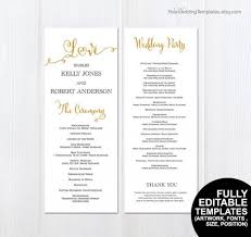 Wedding Program Dimensions 28 Wedding Program Dimensions Printable Wedding Programs