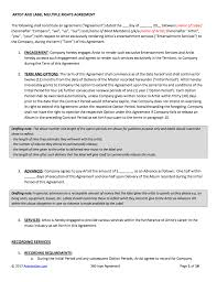 recording contract free template best resumes curiculum vitae