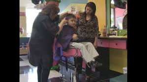 salon makes haircuts easy for autistic children