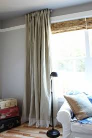 Ikea Beige Curtains Interior Ikea Curtains Combined With Clean White Sofa And