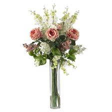 flower arrangements rose delphinium and lilac silk flower arrangement silk specialties