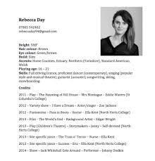 Dance Resume Templates Dance Resume Template Professional Resumes Sample Online