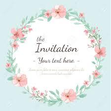 Invitation Card Flower Wedding Invitation Card Save The Date Card Greeting