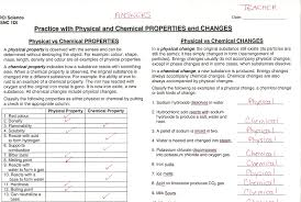 physical vs chemical changes worksheet photos toribeedesign