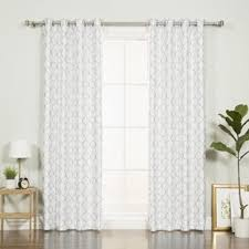 White Faux Silk Curtains Modern Contemporary Faux Silk Curtains Allmodern