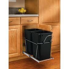 Kitchen Cabinet Waste Bins by Pull Out Trash Cans Kitchen Cabinet Organizers The Home Depot