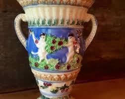 Vase Shaped Jug Majolica Vase Etsy