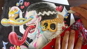 bride of frankenstein tattoo design rat fink style youtube