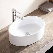waagee oval white porcelain bathroom ceramic vessel sink bowl