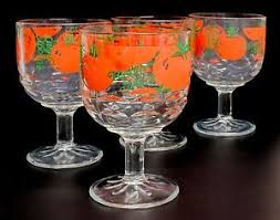 classic barware set of 4 vintage 16 oz bloody mary glass stem goblets awesome