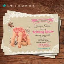 shabby chic baby shower invitations sorepointrecords