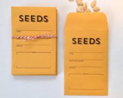 seed envelopes seed envelopes etsy