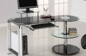 Small Glass Desks Large Glass Top Desk Glass Table Top Computer Desk Mini Computer