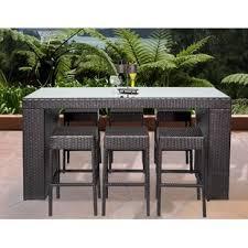 Outdoor Bar Table And Stools Bar Height Patio Sets Wayfair