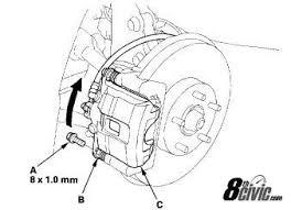 2003 honda civic brake pads diy front brakes honda civic forum