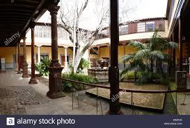 spanish colonial style patio courtyard old town la laguna tenerife