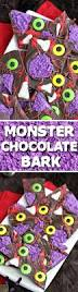 monster chocolate bark halloween candy idea oh nuts blog