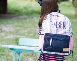 sale personalized backpack set monogrammed back pack and