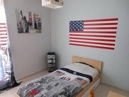 chambre etats unis deco chambre made in usa fond du mur gris clair