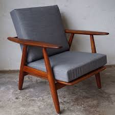 Cigar Lounge Chairs Hans Wegner Getama Oak Cigar Lounge Chair Danish Modern U2014 The