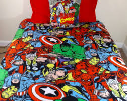 Marvel Double Duvet Cover Marvel Avengers Bedding Set Geeky Comic Iron Man Thor Captain
