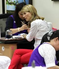 lori loughlin photos photos lori loughlin stops by a nail salon