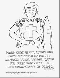 wonderful breastplate of righteousness coloring sheet with armor
