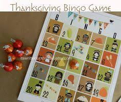 a thanksgiving bingo will keep the occupied during