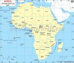 the map of africa africa latitude and longitude map