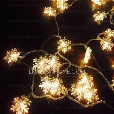 beautiful warm lighting snow shaped decorative lights