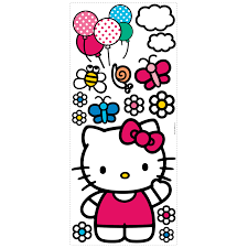 hello kitty wall decals roselawnlutheran room mates popular characters 15 piece the world of hello kitty giant wall decal
