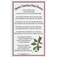 merry christmas from heaven memorial ornament christmas store