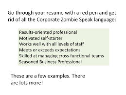 Resume With Results Go Through Your Resume With
