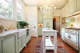 nonconventional portland craftsman kitchen design with small table