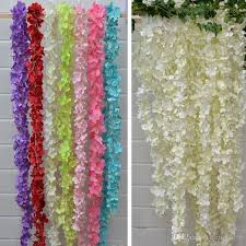 cheap garlands for weddings artificial hydrangea wisteria flower diy simulation wedding arch