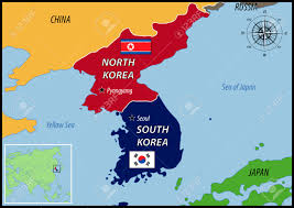 Map Of South Korea North Korea U0026 South Korea Lessons Tes Teach